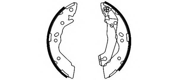 Тормозные колодки Тормозные колодки барабанные PAGID арт. 91054100