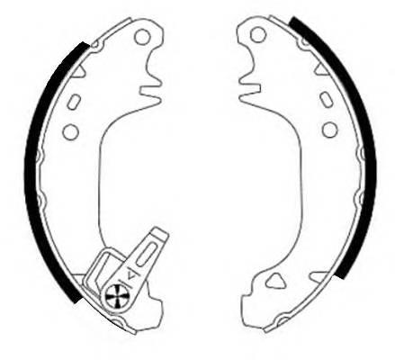 Тормозные колодки Тормозные колодки барабанные PAGID арт. 91038201