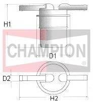 Топливные фильтры Топливный фильтр CHAMPION арт. L103606
