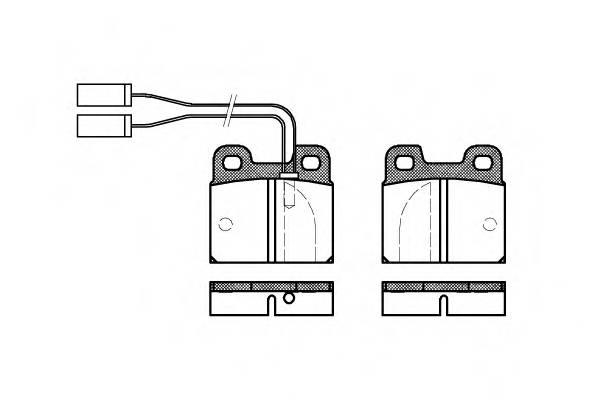 Тормозная система Гальмiвнi колодки, к-кт. PAGID арт. 200501