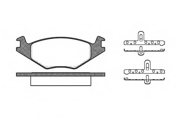 Тормозная система Гальмiвнi колодки, к-кт. PAGID арт. 217120
