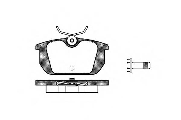 Тормозная система Гальмiвнi колодки, к-кт. PAGID арт. 223100