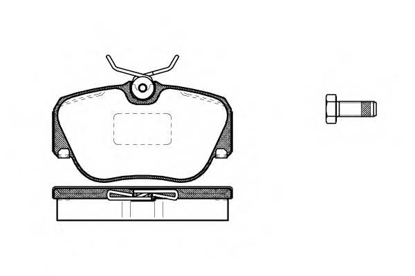 Тормозная система Гальмiвнi колодки, к-кт. PAGID арт. 228400