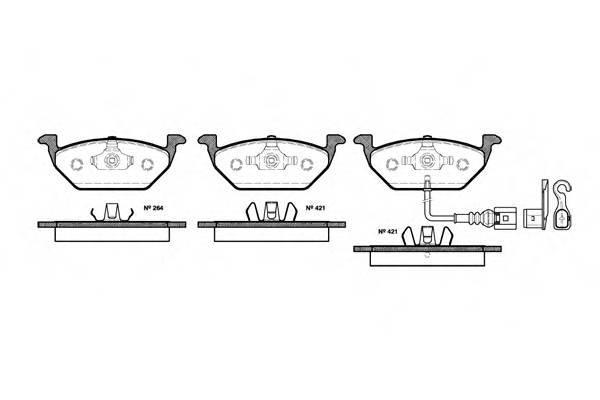 Тормозная система Гальмiвнi колодки, к-кт. PAGID арт. 263321