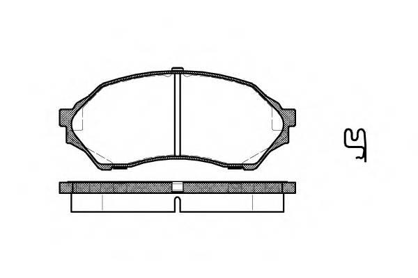 Тормозная система Гальмiвнi колодки, к-кт. ABE арт. 269900
