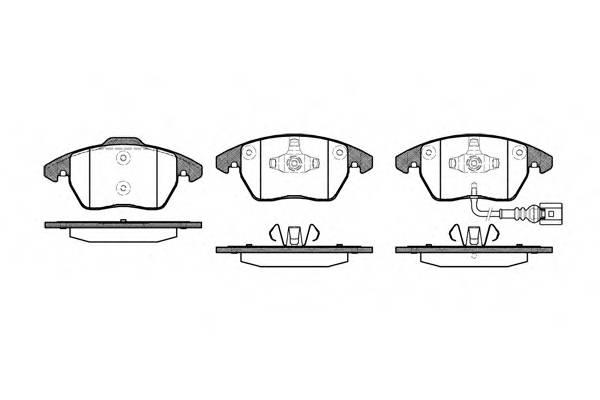 Тормозная система Гальмiвнi колодки, к-кт. PAGID арт. 2103001