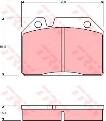 Тормозные колодки Тормозные колодки дисковые PAGID арт. GDB119