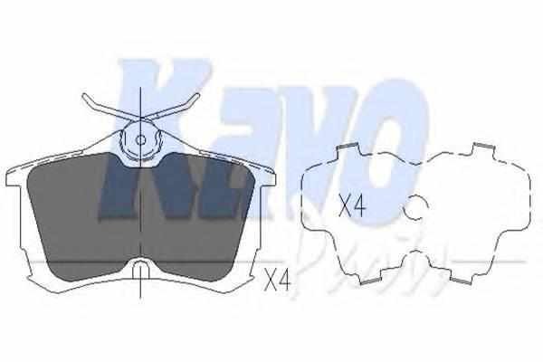 Тормозные колодки Тормозные колодки дисковые KAVOPARTS арт. KBP2011