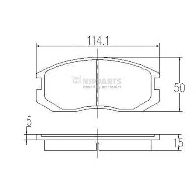 Тормозная система Гальмiвнi колодки, к-кт. PAGID арт. J3605032