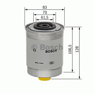 Топливные фильтры Топливный фильтр диз BOSCH арт. 1457434280