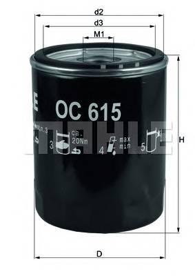 Масляные фильтры Фільтр масляний KNECHT арт. OC615