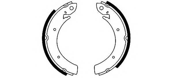 Тормозные колодки Тормозные колодки барабанные PAGID арт. 91044300