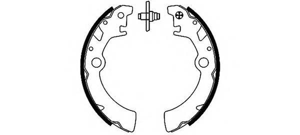 Тормозные колодки Тормозные колодки барабанные ABE арт. 91051400