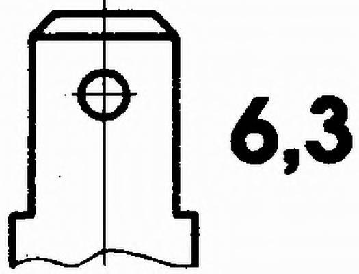 Датчик, температура масла 12V HELLA 6PT009107691