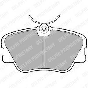 Гальмівні колодки, дискові PAGID арт. LP499