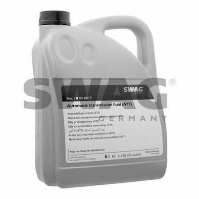 Автотрансмиссионное масло (ATF) (красное) (ATF) 5L SWAG 10930017