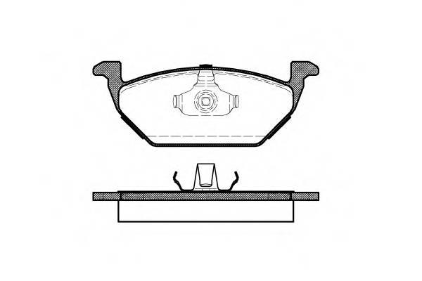Тормозная система Гальмiвнi колодки, к-кт. PAGID арт. 263300