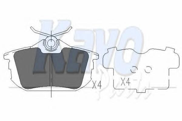 Тормозные колодки Тормозные колодки дисковые KAVOPARTS арт. KBP5513