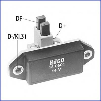 Регулятор генератора BMW MB OPEL FORD HUCO 130501