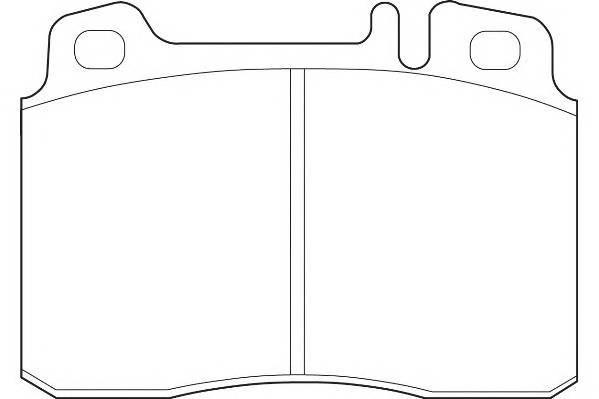 Тормозные колодки Тормозные колодки Wagner PAGID арт. WBP21153B