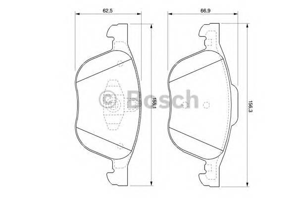 Тормозные колодки Тормозные колодки Bosch PAGID арт. 0986424794