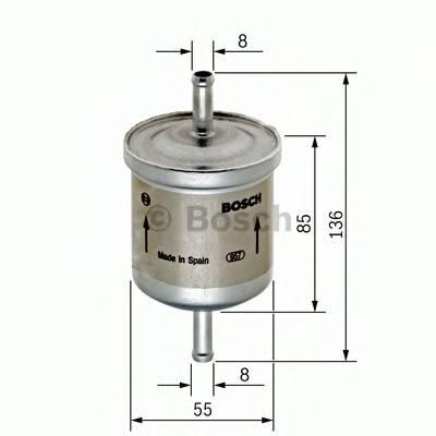 Топливные фильтры Топливный фильтр BOSCH арт. F026402001