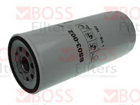Масляные фильтры Фільтр масляний BOSSFILTERS арт. BS03002