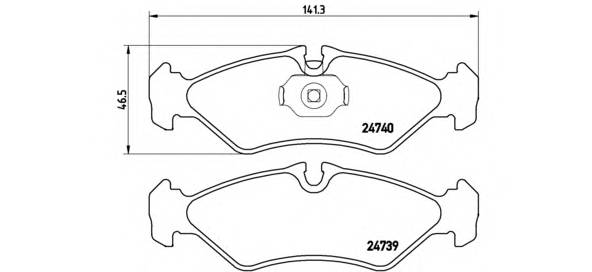 Тормозная система Гальмiвнi колодки, к-кт. PAGID арт. P50081