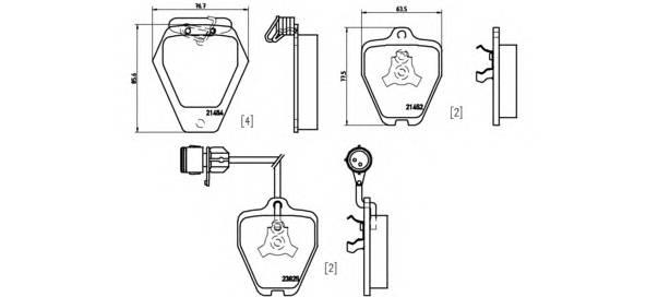 Тормозные колодки Тормозные колодки Brembo PAGID арт. P85038