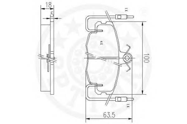 Тормозные колодки Тормозные колодки OPTIMAL арт. 9416