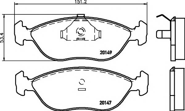 Тормозные колодки 20147/16,8мм Тормозные колодки PAGID PAGID арт. T1087