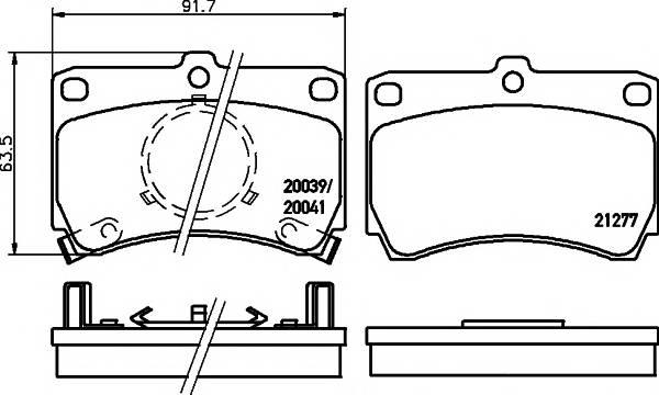 Тормозные колодки 20039/15,0мм Тормозные колодки PAGID PAGID арт. T0006