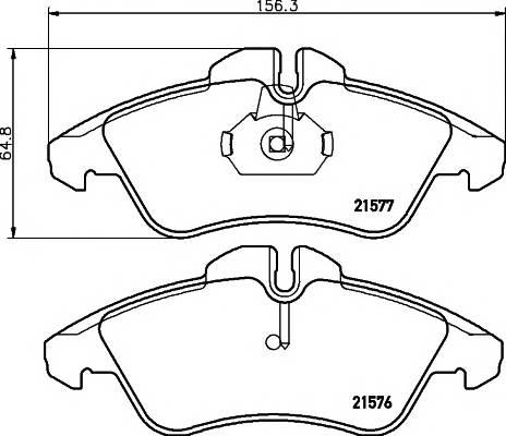 Тормозные колодки T1485 Тормозные колодки PAGID MB Sprinter PAGID арт. T1111