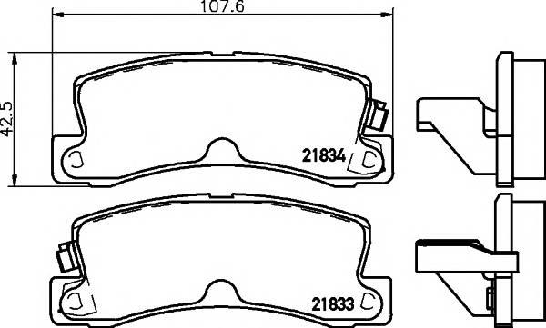 Тормозные колодки 21834/15,5мм Тормозные колодки PAGID PAGID арт. T0393