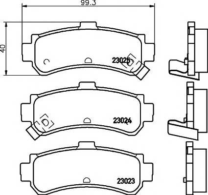 Тормозные колодки 23023/15,0мм Тормозные колодки PAGID PAGID арт. T3114