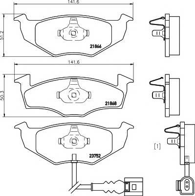 Тормозные колодки 21868/17,2мм Тормозные колодки PAGID PAGID арт. T1287