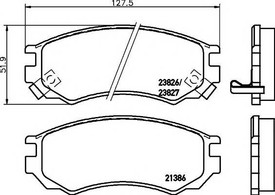 Тормозные колодки 21386/14,5мм Тормозные колодки PAGID PAGID арт. T3097