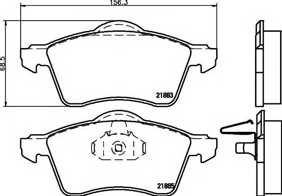 Тормозные колодки Тормозные колодки дисковые PAGID арт. 2188302