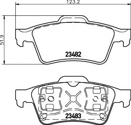 Тормозные колодки Тормозные колодки дисковые TEXTAR PAGID арт. 2348202