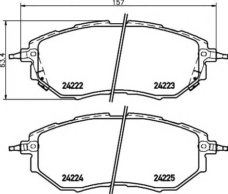 Тормозные колодки Тормозные колодки дисковые TEXTAR ABE арт. 2422201