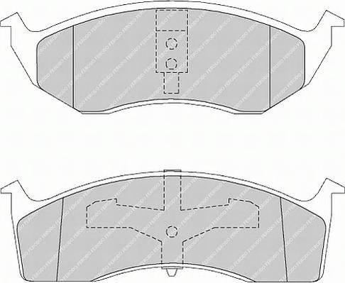 Тормозные колодки Тормозные колодки Ferodo PAGID арт. FDB1098
