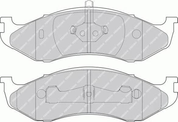 Тормозные колодки Тормозные колодки дисковые PAGID арт. FDB1267