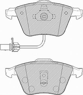 Тормозные колодки Тормозные колодки Ferodo ABE арт. FDB1407