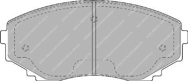 Тормозные колодки Тормозные колодки дисковые ABE арт. FDB1445