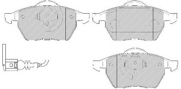 Тормозные колодки Тормозные колодки Ferodo ABE арт. FDB1463