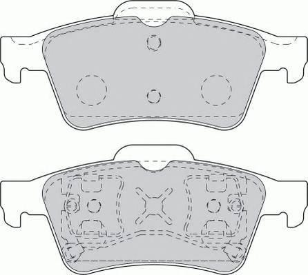 Тормозные колодки Тормозные колодки дисковые PAGID арт. FDB1540