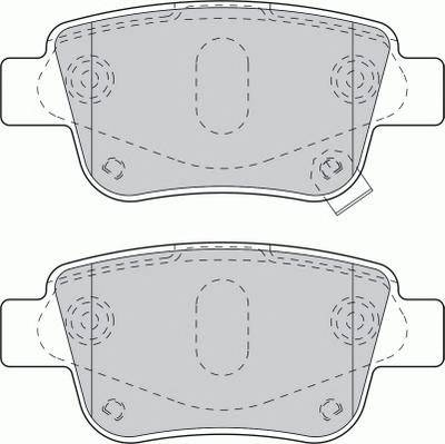 Тормозные колодки Тормозные колодки Ferodo PAGID арт. FDB1649