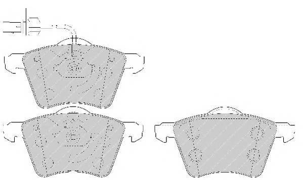 Тормозные колодки Тормозные колодки Ferodo ABE арт. FDB1654