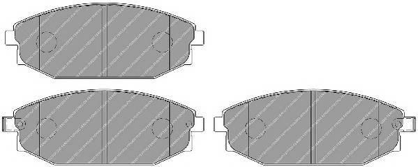 Тормозные колодки Тормозные колодки Ferodo PAGID арт. FDB1671