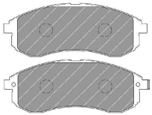 Тормозные колодки Тормозные колодки Ferodo ABE арт. FDB1702